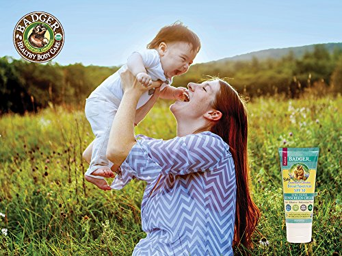 Baby Sunscreen Cream by Badger - SPF 30 - 2.9 Ounce Tube