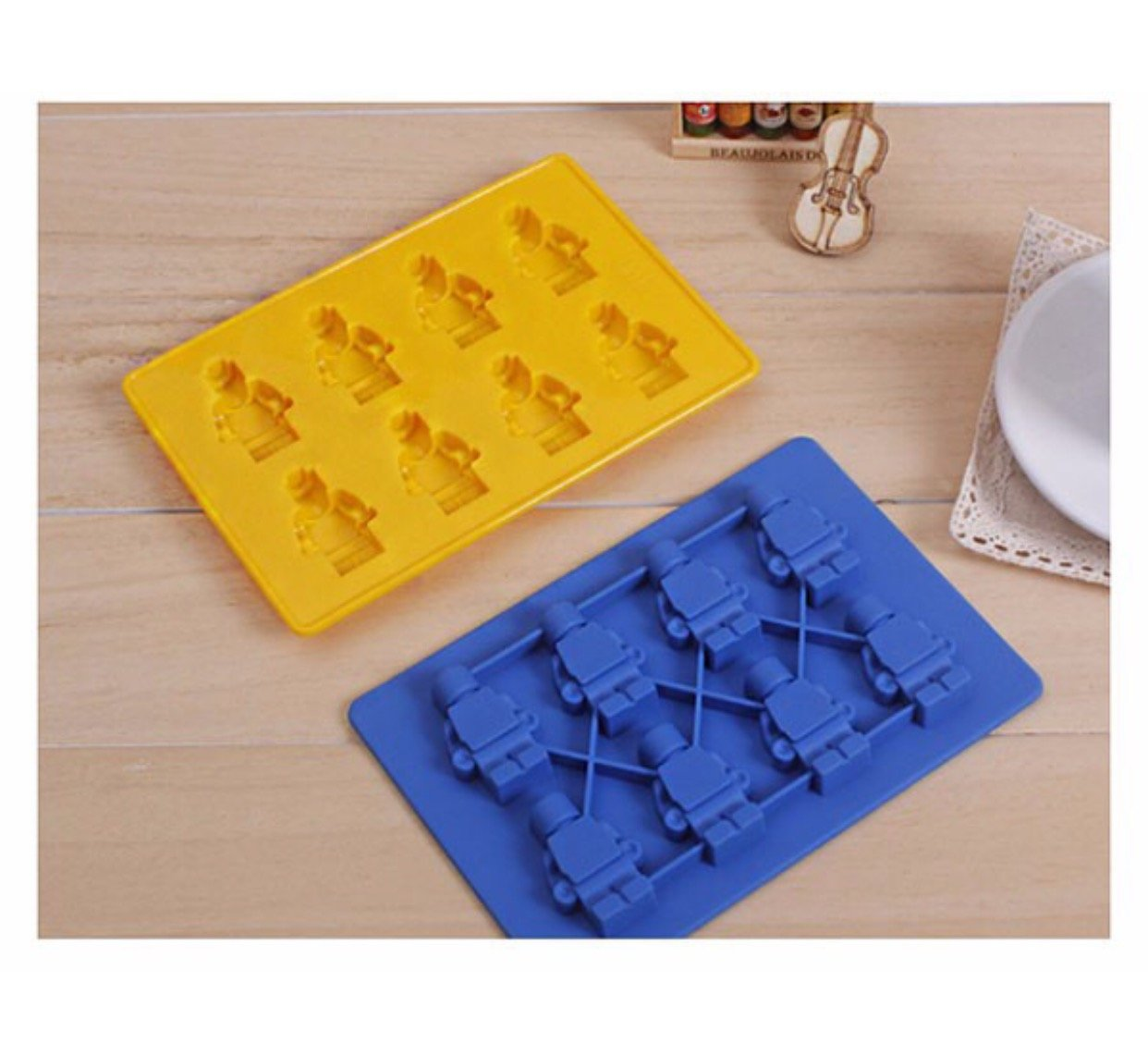 Lovetosell123 Ice maker mold 1pc Silicone Lego Robot Ice Cube Cake Chocolate Molds Jelly Molds Candy Cake Mould Bakeware Kitchen Accessories by Lovetosell123
