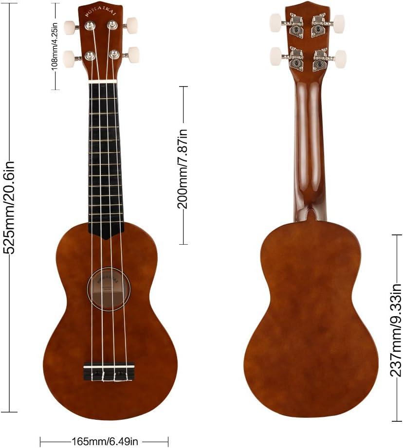 POMAIKAI Soprano Ukelele para Principiantes, Ukelele Hawaiano para Niños, Guitarra de 21 Pulgadas con Bolsa para Niños Estudiantes y Principiantes (marrón): Amazon.es: Instrumentos musicales