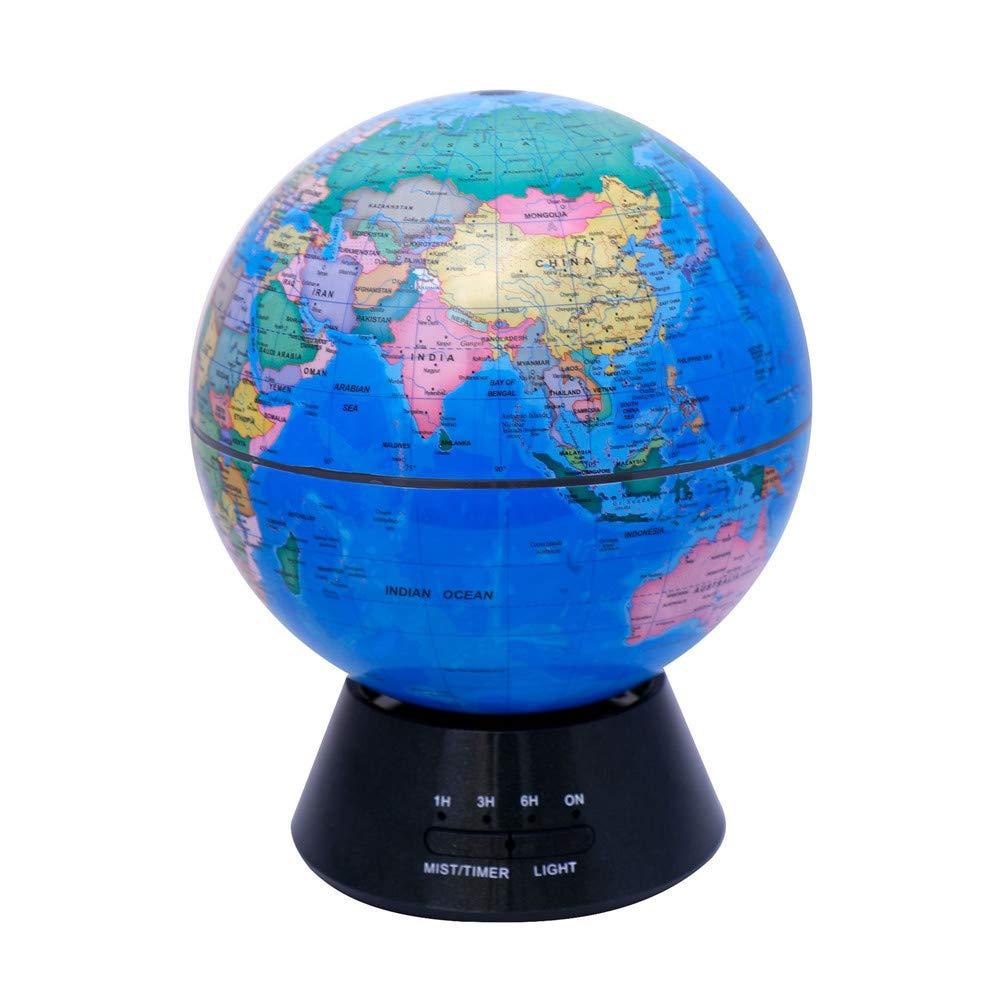 Blau Floating Globe Glühende Weltkugel, 3-in-1 Erdkugel und Konstellation Eingebaute LED-Beleuchtung Nachtszene Leise Schlafzimmer Ultraschall-Luftreiniger Bildung Weltkugel Geschenk Familie Schreibtisch D