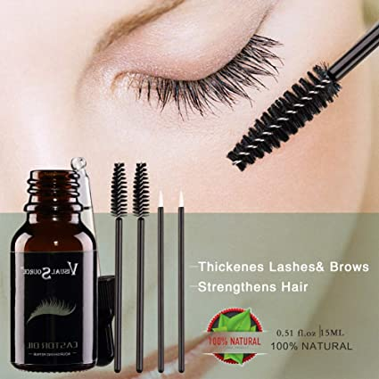 Aceite esencial para el crecimiento del cabello, suero para el crecimiento de pestañas, previene el envejecimiento de la piel, cuidado del cuerpo, aceite de ricino orgánico natural negro: Amazon.es: Belleza
