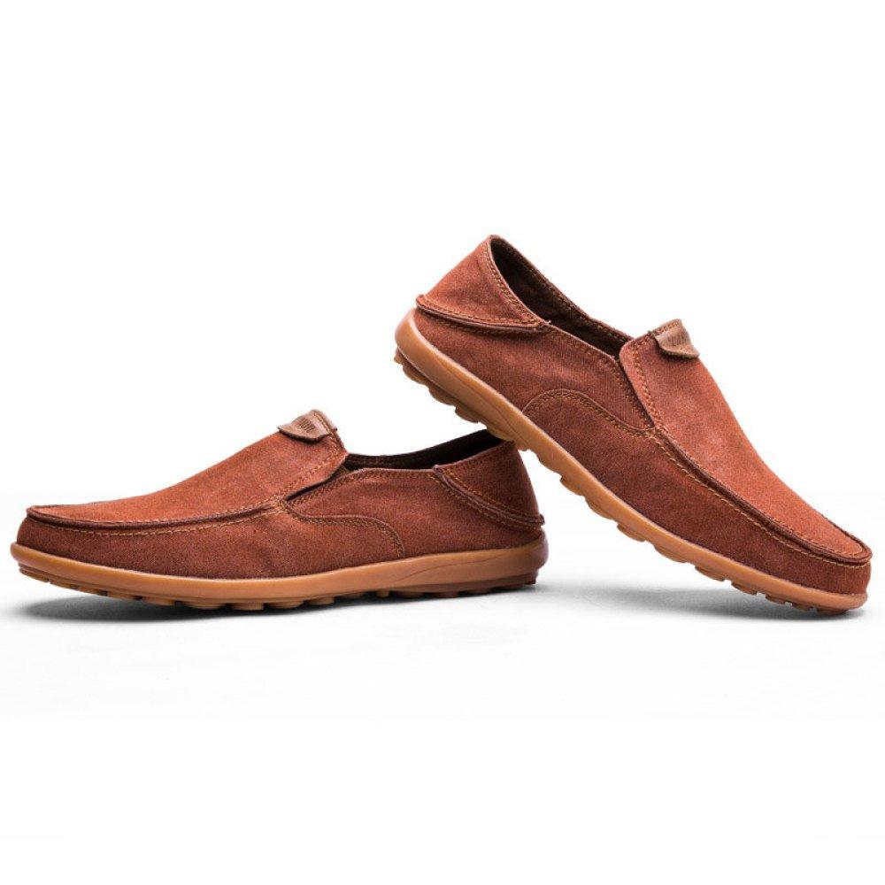 ZLLNSPX Schuhe Herren Canvas Schuhe Niedrig Schuhe ZLLNSPX Casual Breathable Slip-on Braun 2ffc6e