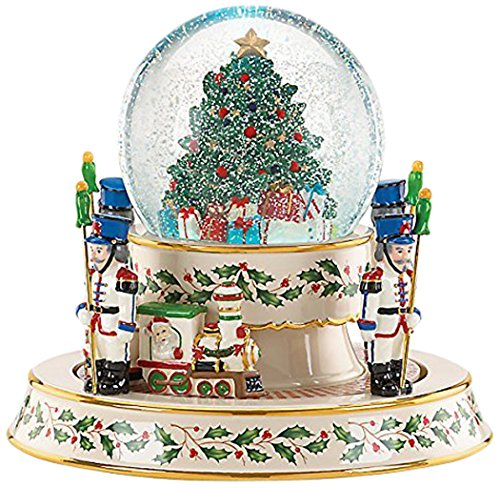 Lenox Holiday Figurals - Lenox Holiday Train Snowglobe Centerpiece