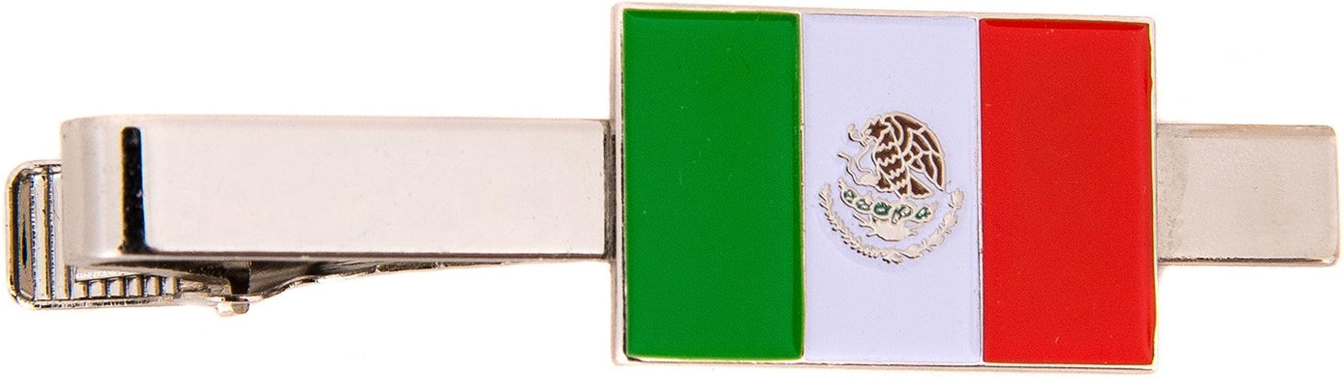 Corbata rectangular con bandera de México hecha de recuerdo de ...