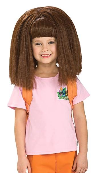 Amazon.com  SALES4YA Costume-Wig Dora Childs Wig Halloween Costume - Most  Children  Clothing 6ef9233ad2