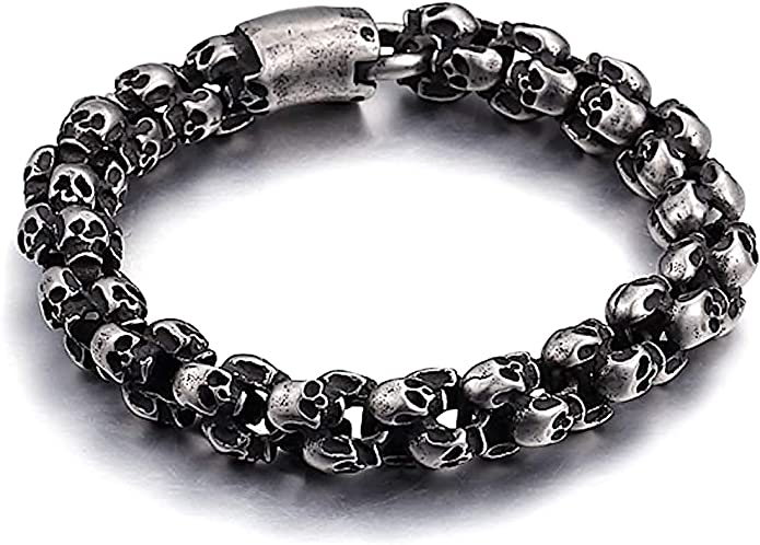 Acheter bracelet tete de mort online 1