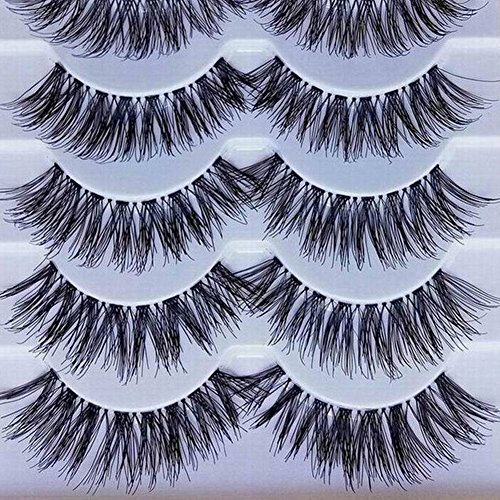 Bluelans-5-Pairs-Long-Cross-False-Eyelashes-Makeup-Natural-Thick-Black-Fake-Eye-Lashes-Extension-Makeup