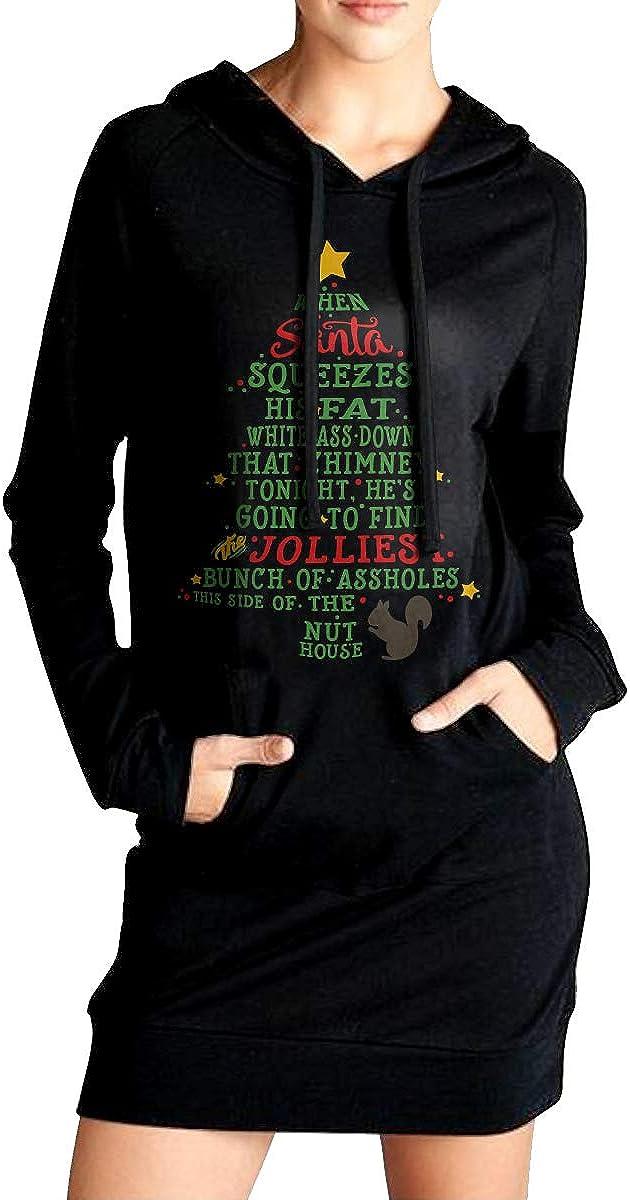 Casual 100/% Cotton Sweatshirt for Women RW1k6Q-1 Womens Jolliest Bunch of A-Holes Long Hooded Sweatshirt
