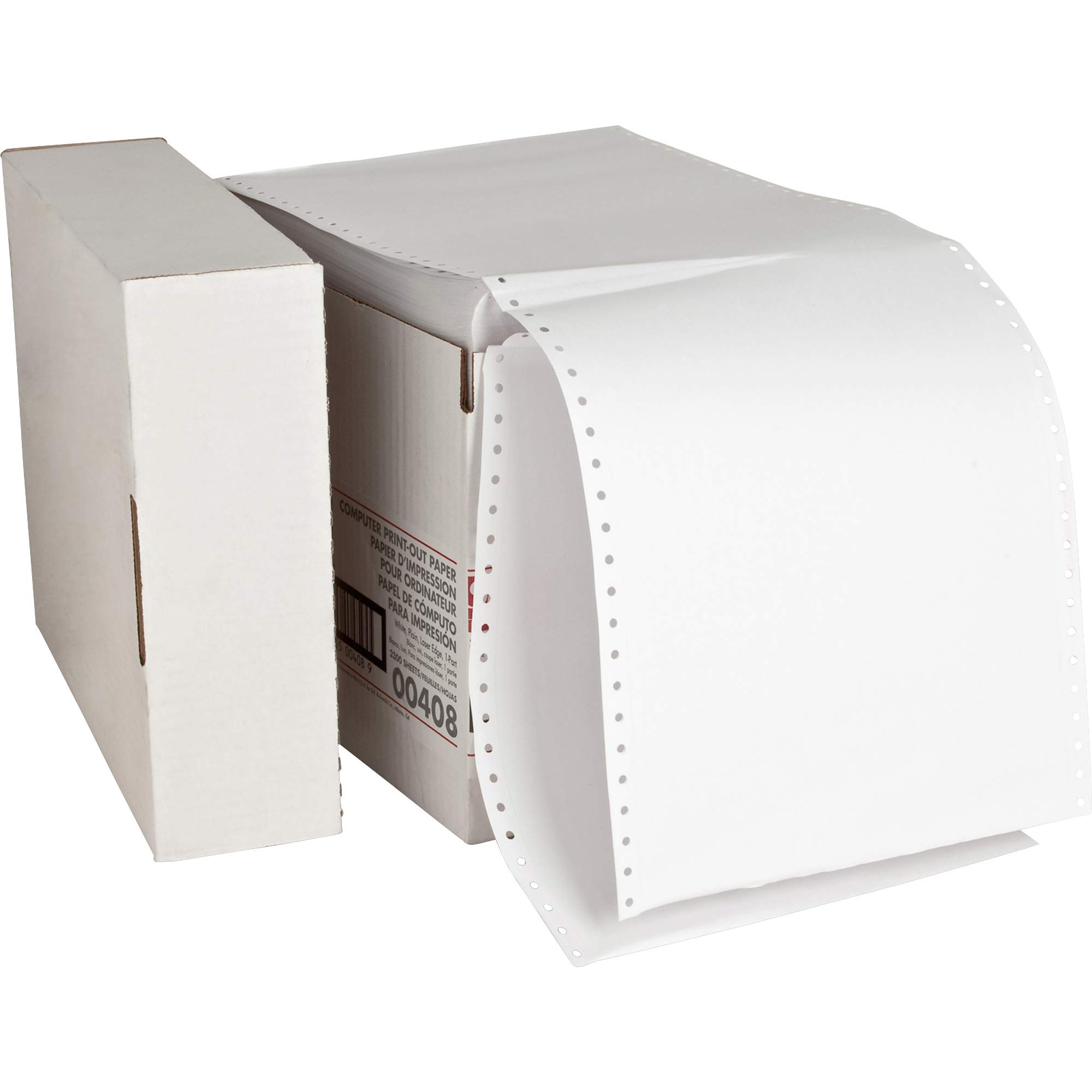 Sparco Computer Paper, Plain, 20 lbs., 9-1/2 x 11 Inches, 2300 Count, White by Sparco