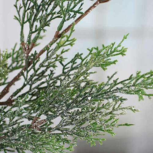 Factory Direct Craft 35 Inch Sparkling Artificial Cedar Embellishing Spray for Home and Holiday Decorating and Arranging