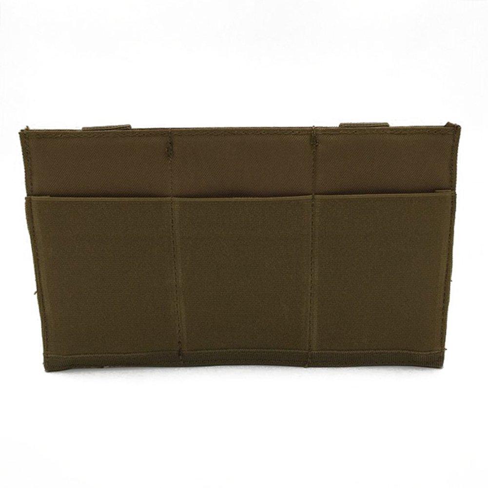 Wongfon Dreifach-Magazintasche, Taktische Oberseite Molle Tasche Airsoft Kampf M4 / M16 Gewehr Magazinhalter Träge …