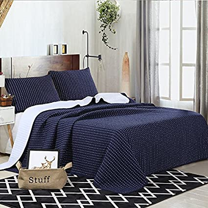 amazon com luckey1 dark blue quilt cover sets queen size 90in x