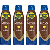 Banana Boat UltraMist Deep Tanning Dry Oil Continuous Clear Spray SPF 4 Sunscreen, 6 oz (4 pack)