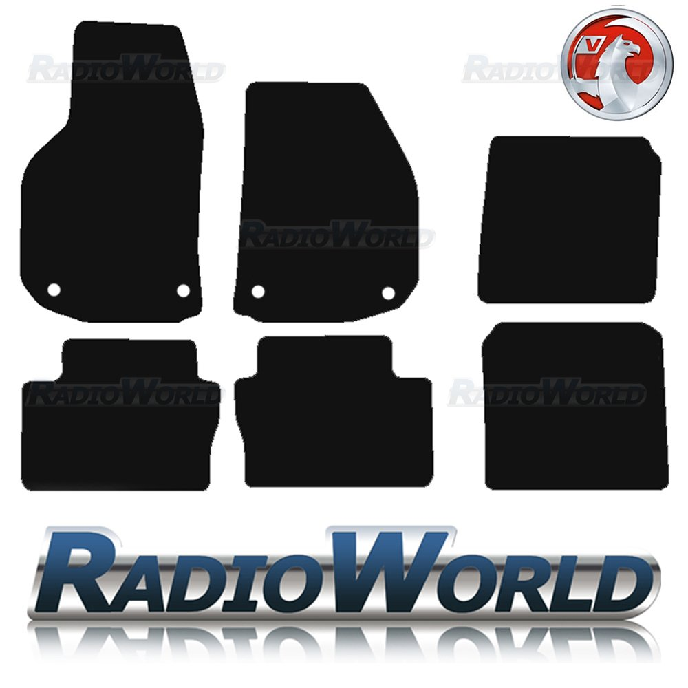 Vauxhall zafira rubber floor mats - Vauxhall Zafira B Mk2 06 11 Tailored Black Car Floor Mats Carpets 6pc W Clips