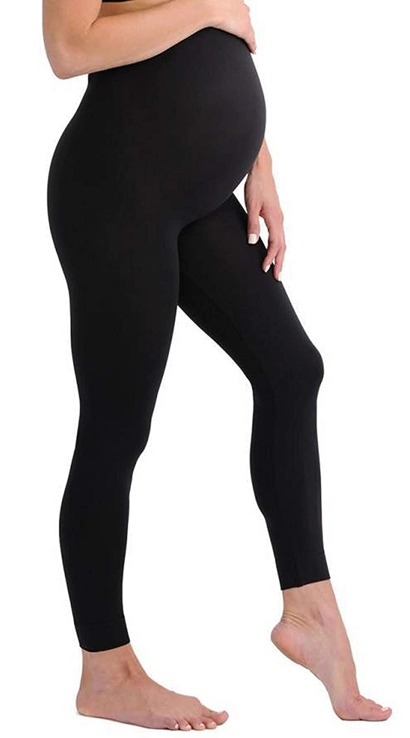 fdac0b18e4f01d Touch Me Maternity Leggings Black Navy Grey Soft Solid Stretch Seamless  Tights One Size Fits All Active Wear Yoga Gym Clothes (Maternity - One Size  Fits All ...