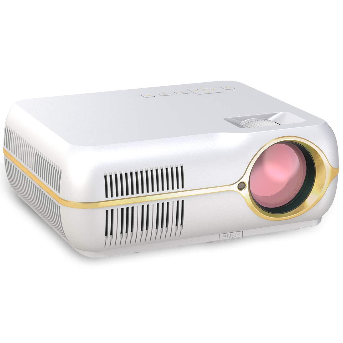 c0671d70ee74 Mini Projector - Upgraded Projector +50% Lumens LED Full HD Mini Portable  Projector 120