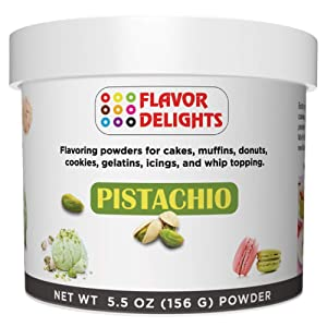 Angel Specialty Products Flavor Delights Flavored Powder Bakery Mix Pistachio