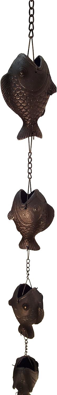 NACH js-RNC008 Fish Cast Iron Rain Chain 72