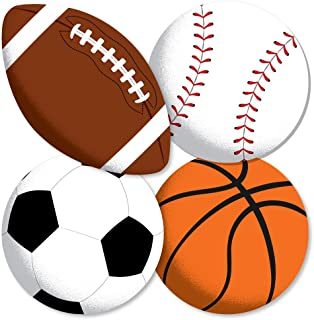 product image for Go, Fight, Win - Sports - Basketball, Baseball, Football & Soccer Ball Decorations DIY Baby Shower or Birthday Party Essentials - Set of 20