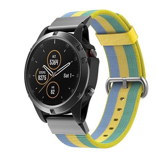 Alt Verano 22 mm para Garmin Fenix 5 Plus Nylon Reloj de pulsera ...