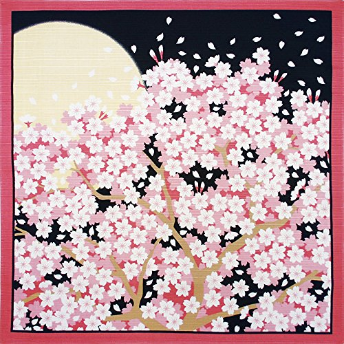 Furoshiki Small-size Flower-scene Wrapping-cloth Cherry-blossoms-at-night 01