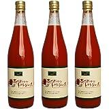 高糖度トマトジュース 極上無添加ストレート「赤オニくん」季節限定商品720ml×3本 糖度10度以上の完熟フルティカトマトだけを使用した贅沢な美味しさ 水、食塩、糖類一切不使用