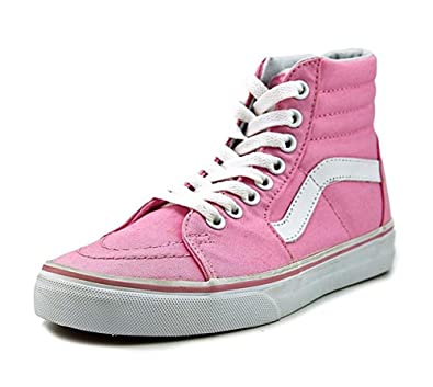 aa75f6aa65bf45 Vans Sk8-Hi (Canvas) Unisex Prism Pink True Shoes 5 B(M) US Women   3.5  D(M) US Men  Buy Online at Low Prices in India - Amazon.in