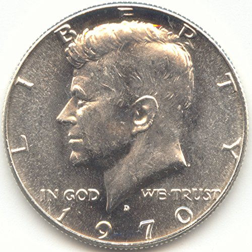 1970 D Kennedy 40% Silver Half Dollar Brilliant Uncirculated (Dollar Mintage Half Kennedy)