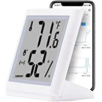 Temperature And Humidity Smart Sensor by EPRO |Wireless Remote Indoor Thermometer Hygrometer With 2.75'' LCD Display and…