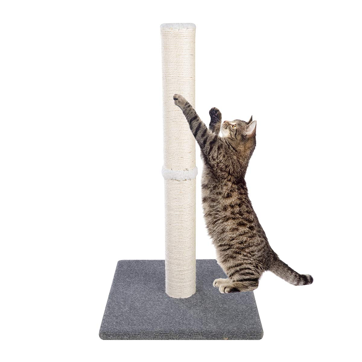 Dimaka 29'' Tall Cat Scratching Post, Claw Scratching Sisal Post for Kittens and Cats,Vertical Scratch [Full Strectch] (Bluish Grey) by Dimaka