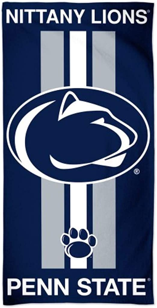 NCAA Penn State Nittany Lions Read Beach Towel Blue 30 x 60