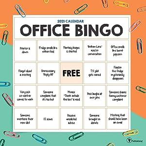 TF Publishing, 2021 Office Bingo Wall Calendar