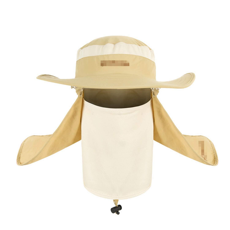 Summer Wind-Proof Sun Hat UV Protection Fishing Hat Fisherman Cap Waterproof Big Bucket Hats with a Wide Brim