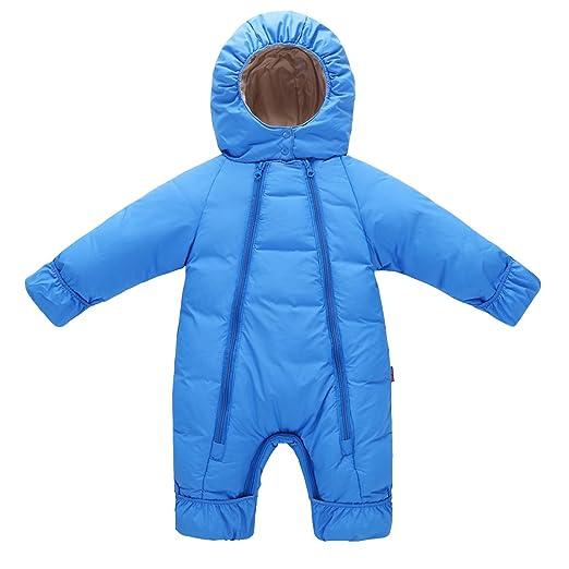 27ef2924f66f Amazon.com  Ahatech Newborn Baby Hooded Jumpsuit Infant Winter Kids ...
