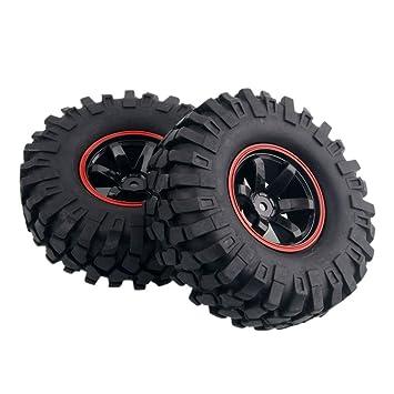 Yosoo 4 x 1:10 RC Buggy Truggy Neumático Rueda de Plástico Llantas de Goma HSP para RC Escalada Racing Car 701A-7006L: Amazon.es: Juguetes y juegos