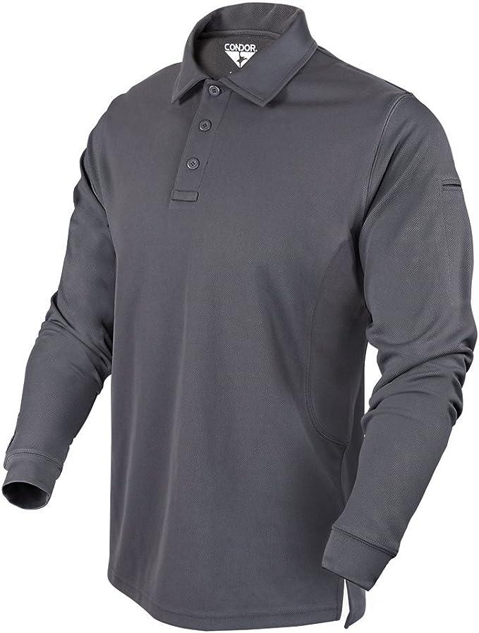 Condor Outdoor Performance Long Sleeve Tactical Polo Shirt Small, Sand