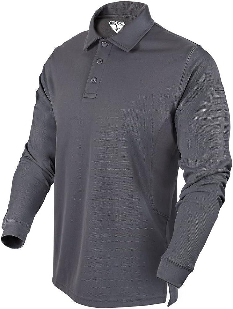 Condor Outdoor Performance Long Sleeve Tactical Polo Shirt: Clothing