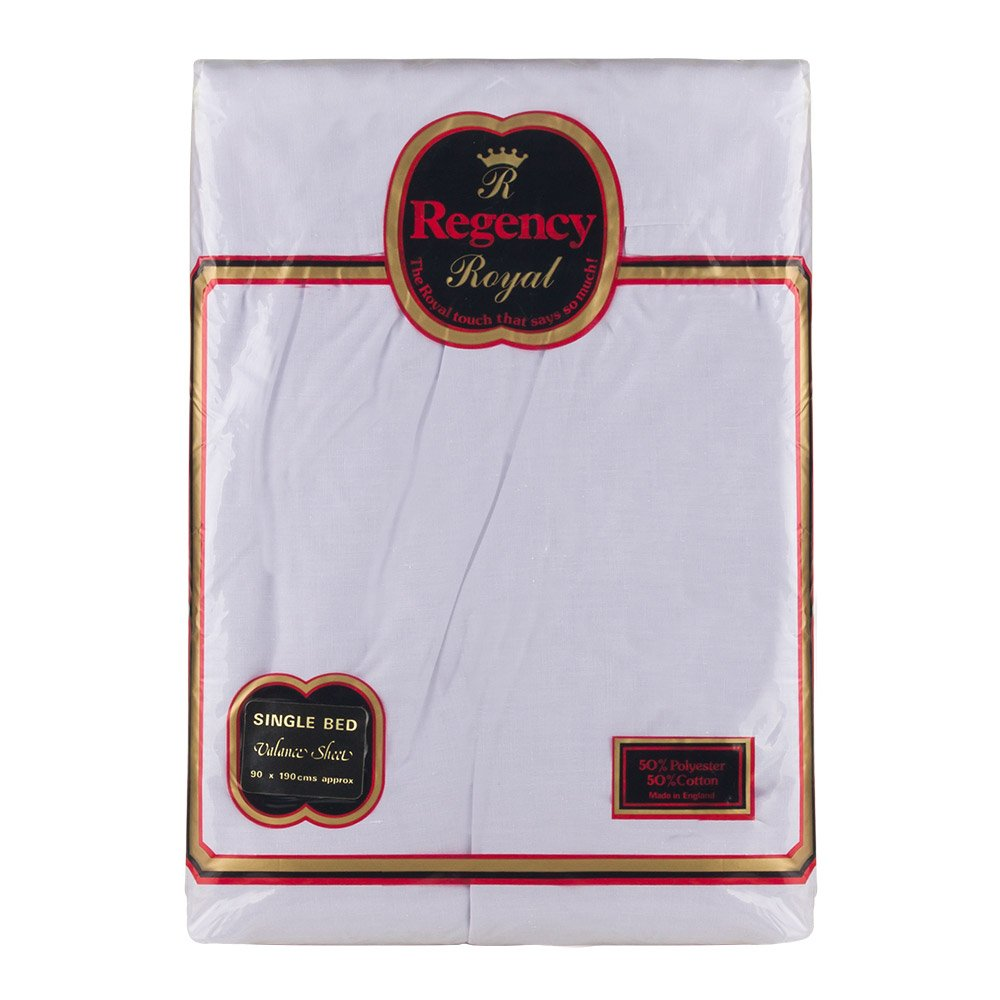 Regency Royal - Lenzuola per letto singolo, 2 pz, grigio, Singolo 7042SBVSGR
