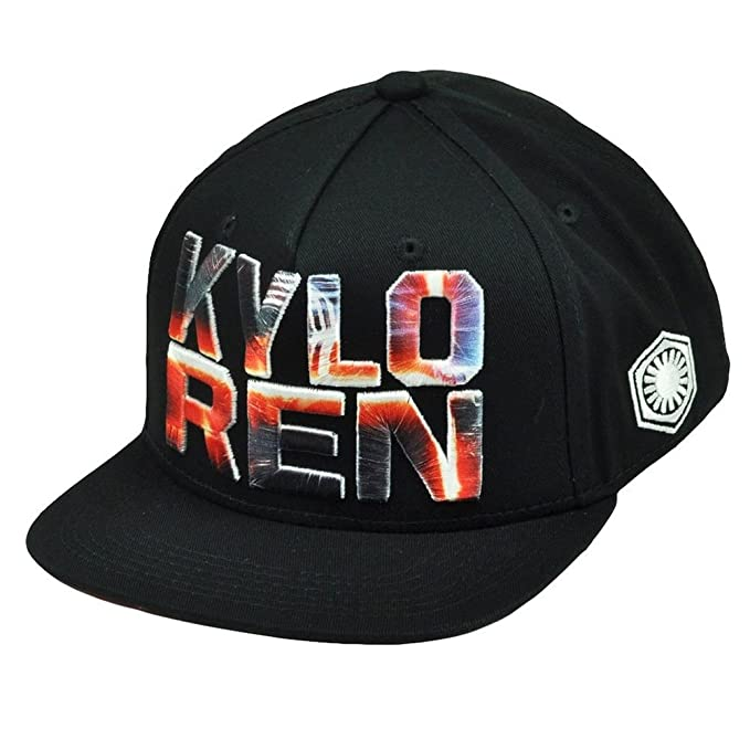 641d07cb759 Star Wars Kylo Ren Dark Side Snapback Flat Bill Hat Cap Villain ...