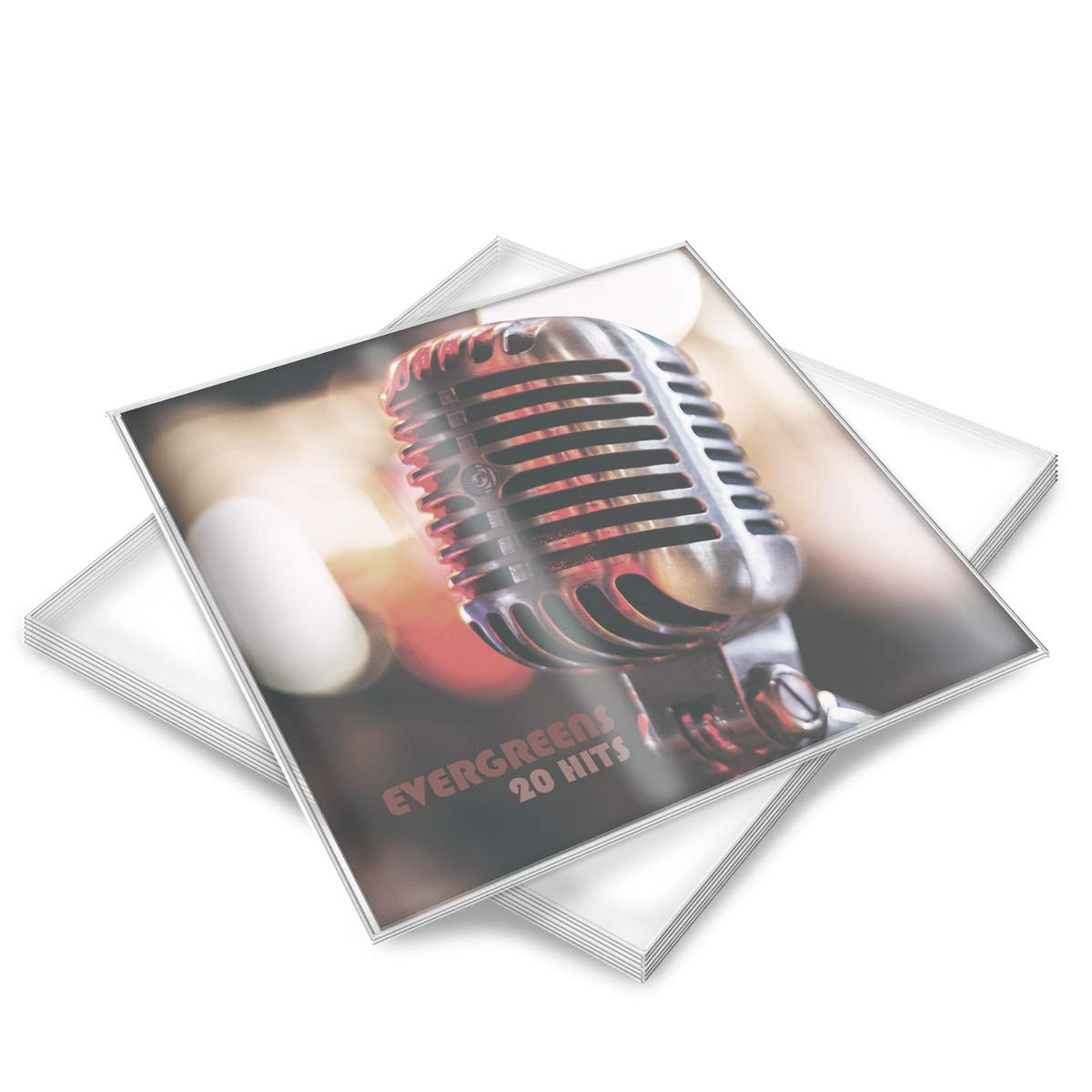 kwmobile 12' Vinyl Record Outer Sleeves - LP Record Vinyl Sleeves for Protection - Transparent Record Cover Protectors - 100 Pieces, Size 325 x 325mm KW-Commerce 46568.01_m001330