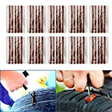 [Pack of 50] Tire Repair Strings - TKOOFN Automotive Tool Tire Repair Plug for Tubeless Off-road Tires Car, Bike, ATV, UTV, Wheelbarrow, Mower