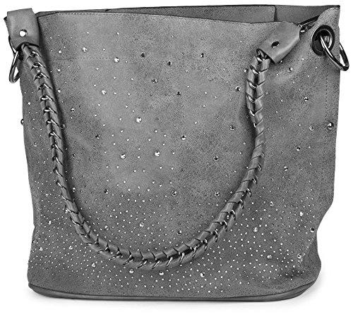 styleBREAKER - Bolso cruzados para mujer gris