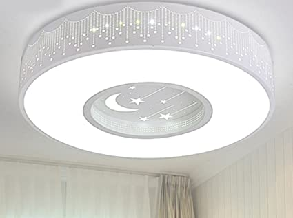 Plafoniera Con Lampada A Vista : Plafoniera led light lampada a sospensione cameretta stella luna