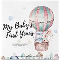 Baby First 5 Years Memory Book Journal - 90 Pages Hardcover First Year Keepsake Milestone Newborn Journal For Boys…