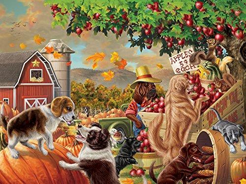 Vermont Christmas Company Harvest Market Hounds Jigsaw Puzzle 550 Piece
