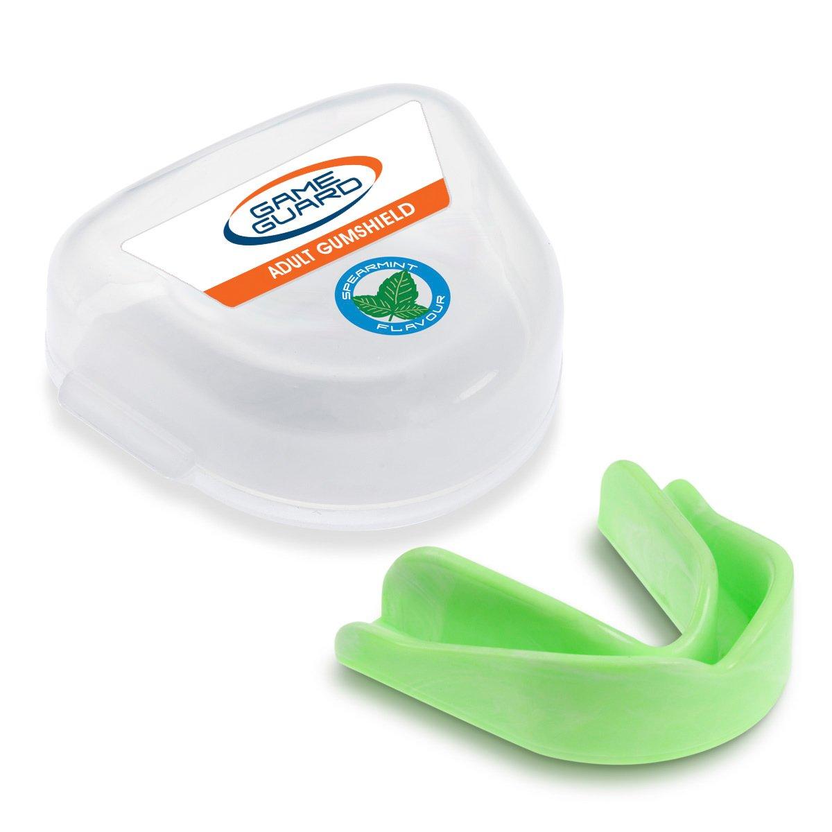10x Game Guard Paradenti/Paradenti Denti Protezione/, colore: verde menta, Paradenti, approvato CE, ideale per la scuola sport Paul Norman Plastics Ltd
