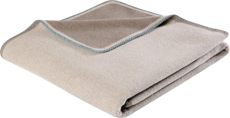 Biederlack Wohndecke Wolle Sand Größe 150x200 cm