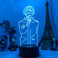 3D Night Light Anime Jujutsu Kaisen Led Night Light Satoru Gojo Lamp for Bedroom Decor Birthday Gift Satoru Gojo Light…
