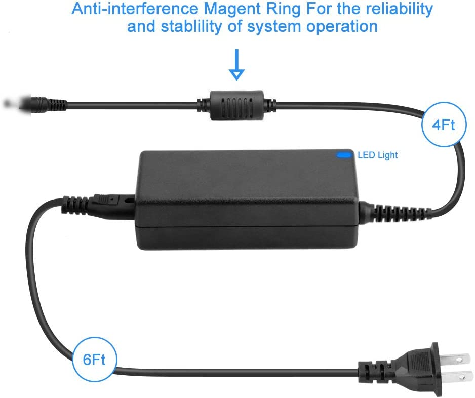 Yustda 19V 2A AC//DC Adapter Replacement for Harman Kardon HKOS5 Onyx5 Onyx Studio 5 Wireless Bluetooth Speaker HKOS5BLKAM HKOS5BLKSP 6132A-HKONYXST5 APIHKONYXST5 TL0662-II0137065 Power Supply