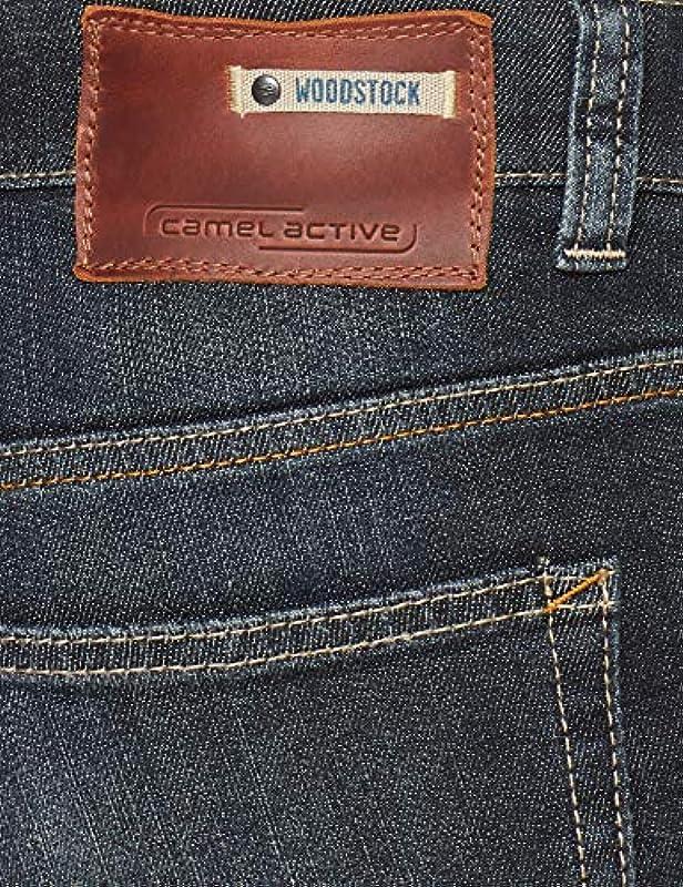 Camel Active Męskie dżinsy Straight Leg 488845/9939: Odzież